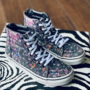 VANS 🌺 Floral High Tops Kids Size 2.5